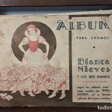 Coleccionismo Álbumes: ÁLBUM DE CROMOS. BLANCA NIEVES Y LOS SIETE ENANITOS. INCOMPLETO. EDIT. FHER.. Lote 162586010