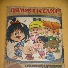 Coleccionismo Álbumes: ÁLBUM VAMOS A LA CAMA, FAMILIA TELERIN, INCOMPLETO CONTIENE 128 CROMOS, ED. BRUGUERA 1965. ERCOM. Lote 164236534