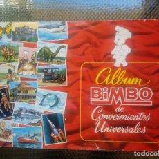 Coleccionismo Álbumes: ALBUM BIMBO DE CONOCIMIENTOS UNIVERSALES ( A-4). Lote 164606550