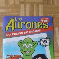 Coleccionismo Álbumes: ALBUM CROMOS LOS AURONES - FALTAN 35 CROMOS - TIENE POSTER CENTRAL - VER FOTOS Y LEER DESCRIPCION. Lote 164681770