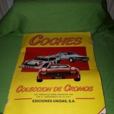 Coleccionismo Álbumes: ALBUM COCHES COLECCIÓN CROMOS MOTOR 16. Lote 164838032