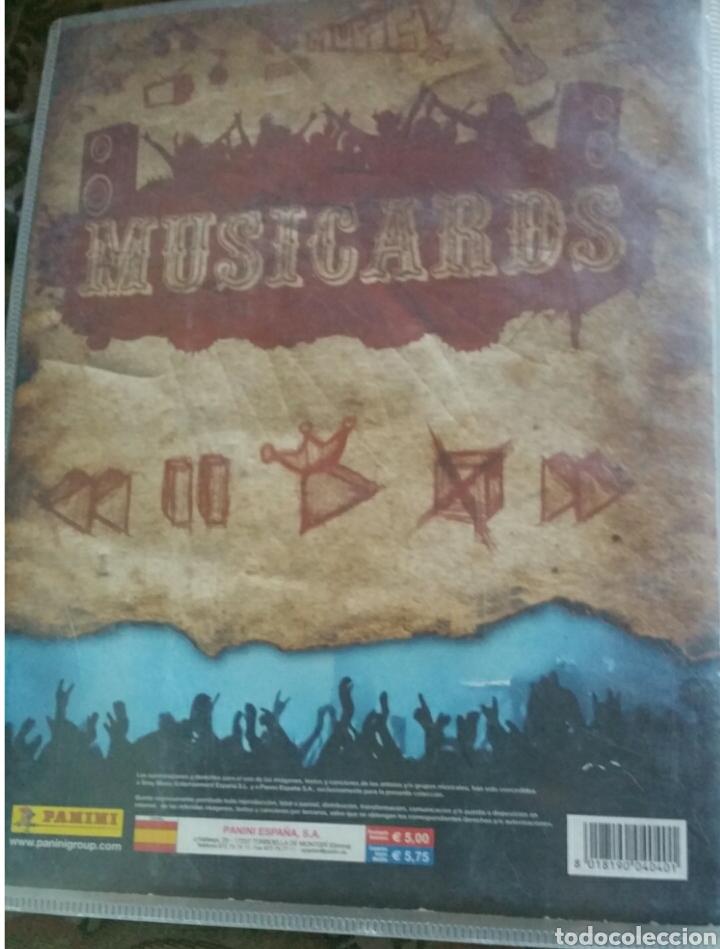 Coleccionismo Álbumes: Álbum panini Musicards con 135 de los 160 - Foto 7 - 164913597