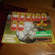 Coleccionismo Álbumes: ALBUM FUTBOL MUNDIAL WORLD CUP MEXICO 86 EDITADO POR BARNA VACIO PLANCHA RARO. Lote 165104854