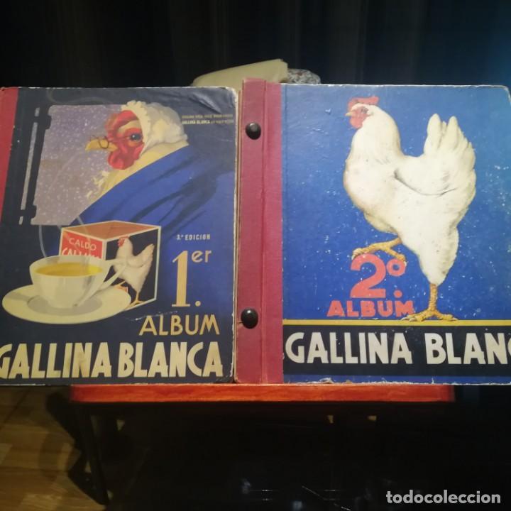 GALLINA BLANCA- 2 ALBUMS- Nº 1 COMPLETO ,Nº 2 A FALTA DE 9 CROMOS-MUY BUEN ESTADO-VER FOTOS (Coleccionismo - Cromos y Álbumes - Álbumes Incompletos)