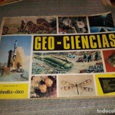 Coleccionismo Álbumes: ALBUM CROMOS GEO CIENCIAS INCOMPLETO, FALTAN 48 CROMOS. Lote 165197402
