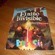 Coleccionismo Álbumes: ÁLBUM DE CROMOS EL NIÑO INVISIBLE, BOM BOM CHIP, ED. XALOC & BENJAMÍN, AÑO 1995.. Lote 165325618