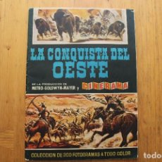 Coleccionismo Álbumes: ALBUM LA CONQUISTA DEL OESTE CON 79 CROMOS MUY BIEN ESTADO EDITORIAL BRUGUERA 1963 . Lote 165463258