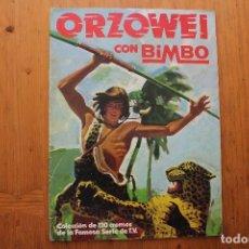 Coleccionismo Álbumes: ORZOWEI CON BIMBO CON 57 CROMOS . Lote 165476434