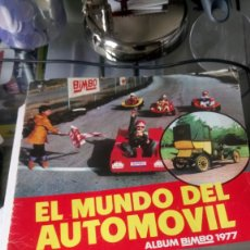 Coleccionismo Álbumes: ÁLBUM EL MUNDO DEL AUTOMÓVIL. BIMBO 1977.. Lote 165721114