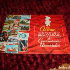 Coleccionismo Álbumes: ALBUM BIMBO DE CONOCIMIENTOS UNIVERSALES - AÑOS 60 - VACIO PERFECTO. Lote 166058542
