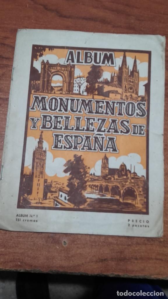 MONUMENTOS Y BELLEZAS DE ESPAÑA ÁLBUM INCOMPLETO CROMOS (Coleccionismo - Cromos y Álbumes - Álbumes Incompletos)