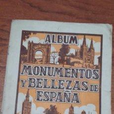 Coleccionismo Álbumes: MONUMENTOS Y BELLEZAS DE ESPAÑA ÁLBUM INCOMPLETO CROMOS . Lote 166507826