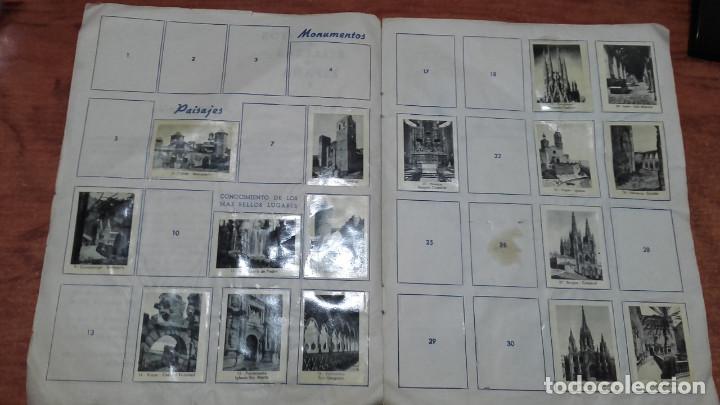 Coleccionismo Álbumes: MONUMENTOS Y BELLEZAS DE ESPAÑA ÁLBUM INCOMPLETO CROMOS - Foto 2 - 166507826