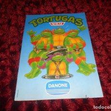 Coleccionismo Álbumes: ALBUM TORTUGAS NINJA NO COMPLETO. DANONE 1990. MUY DIFÍCIL. Lote 166776702