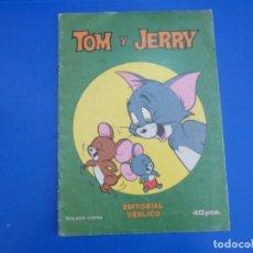 Coleccionismo Álbumes: ALBUM VACIO DE TOM Y JERRY AÑO 1983 DE EDITORIAL VENLICO. Lote 166851690