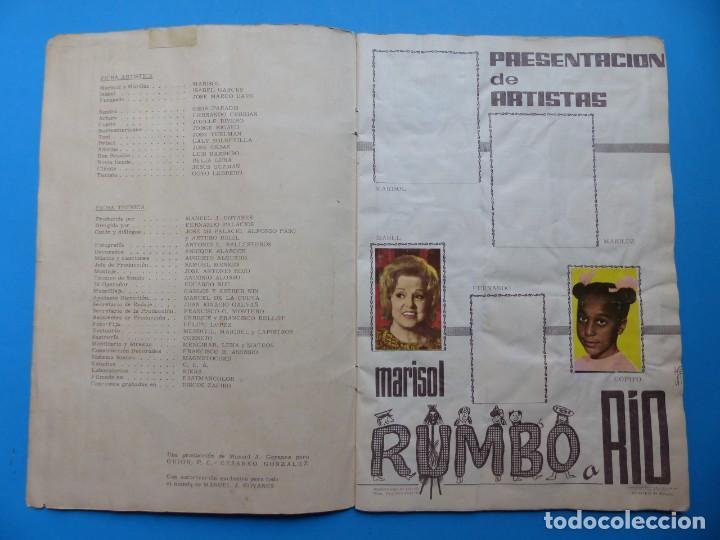 Coleccionismo Álbumes: ALBUM CROMOS RUMBO A RIO, MARISOL - LE FALTAN 43 CROMOS - ED. FHER - VER DESCRIPCION Y FOTOS - Foto 2 - 166862464