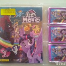 Coleccionismo Álbumes: MY LITTLE PONY THE MOVIE BLISTER CON ÁLBUM Y 50 SOBRES O 250 CROMOS PANINI. Lote 194594263
