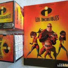 Coleccionismo Álbumes: LOTE ÁLBUM LOS INCREÍBLES Y 2 CAJAS CON 100 SOBRES PANINI 2004. Lote 188661607