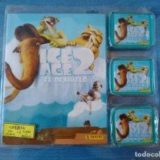 Coleccionismo Álbumes: ICE AGE 2 ALBUM Y 50 SOBRES, 250 CROMOS. Lote 167448732