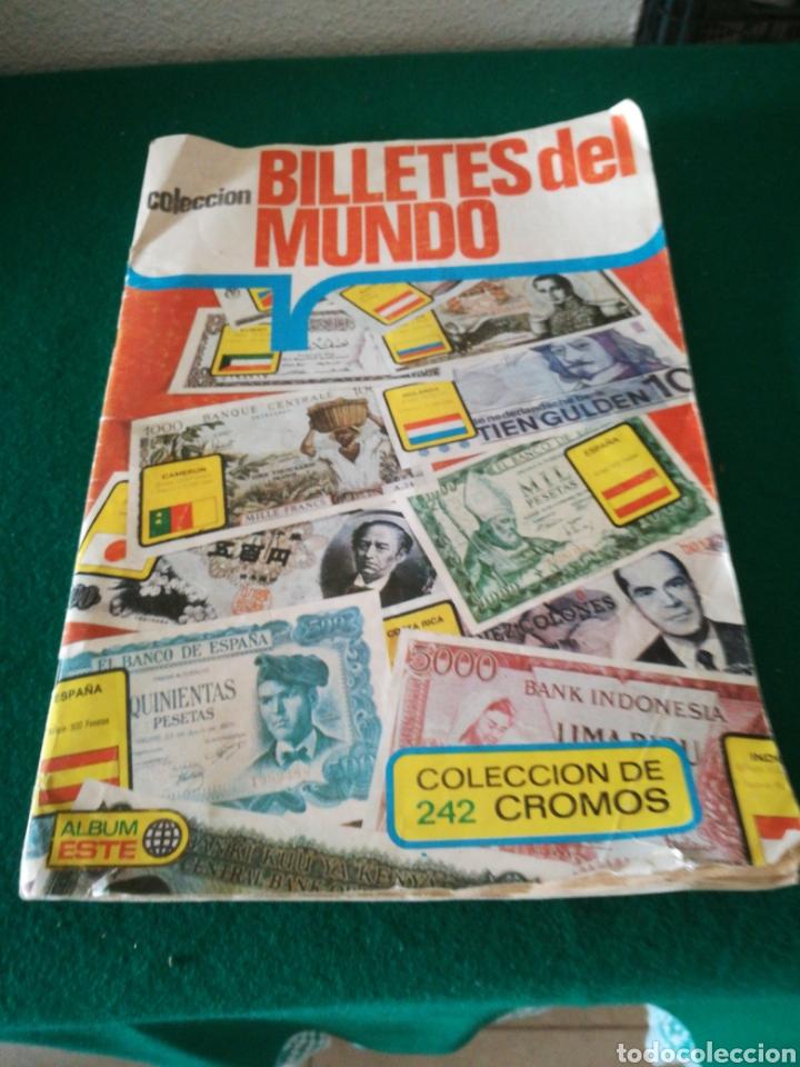 ALBUN DE CROMOS BILLETES DEL MUNDO (Coleccionismo - Cromos y Álbumes - Álbumes Incompletos)