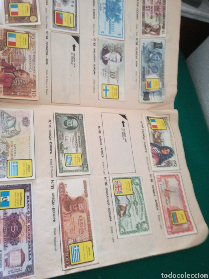 Coleccionismo Álbumes: ALBUN DE CROMOS BILLETES DEL MUNDO - Foto 7 - 167688930