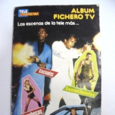 Coleccionismo Álbumes: ALBUM INCOMPLETO. ALBUM FICHERO TV. TELEINDISCRETA. EDITA PUBLICACIONES HERES. FALTAN 2 CROMOS. VER. Lote 167783788