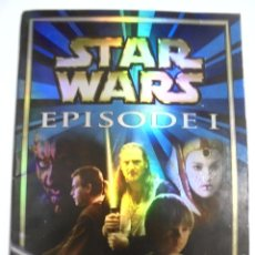 Coleccionismo Álbumes: ALBUM INCOMPLETO. STAR WARS. EPISOE I. STICKER COLLECTION. MERLIN COLLECTION. FALTAN 125 CROMOS.. Lote 167789356