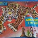 Coleccionismo Álbumes: ALBUM MAGA AMERICA Y SUS HABITANTES VACIO INCOMPLETO. Lote 168299701