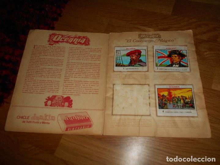 Coleccionismo Álbumes: ALBUM OCEANIA DUNKIRAMA DUNKIN GALLINA BLANCA COLECCION NO COMPLETO CON 51 CROMOS - Foto 2 - 184647583