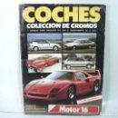 Coleccionismo Álbumes: 130 CROMOS + ALBUM COCHES MOTOR 16 CUSCO 1988 ¡¡VER LISTADO¡¡ - COLECCION CROMO ALBUN. Lote 168786380