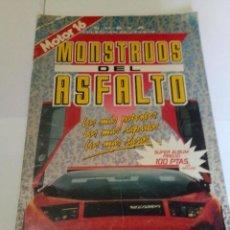 Collezionismo Album: ALBUM DE CROMOS MONSTRUOS DEL ASFALTO MOTOR 16 / TIENE 90 CROMOS DE 216. Lote 169767720