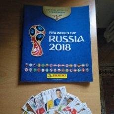 Coleccionismo Álbumes: ALBUM PANINI MUNDIAL FÚTBOL RUSIA 2018 + CROMOS FIFA WORLD CUP. Lote 169777868