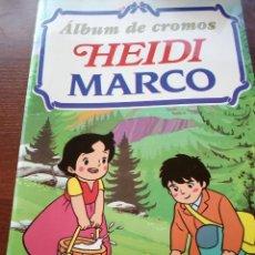 Coleccionismo Álbumes: ALBUM DE CROMOS VACIO DE HEIDI MARCO DE RBA 1999 + 2 HOJAS SIN PEGAR CON 24 CROMOS. Lote 169826188