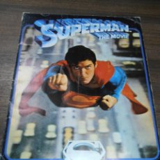 Coleccionismo Álbumes: ALBUM INCOMPLETO. SUPERMAN. THE MOVIE. EDITORIAL FHER. FALTAN 11 CROMOS.1978. BUEN ESTADO. VER FOTOS. Lote 170165876
