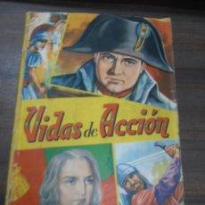 Coleccionismo Álbumes: ALBUM INCOMPLETO. VIDAS DE ACCION. EDITORIAL FHER. FALTAN 31 CROMOS. VER FOTOS.. Lote 170176228