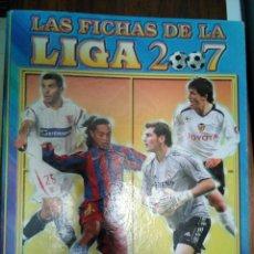 Coleccionismo Álbumes: ALBUM LIGA 2007, CON 217 CROMOS CARTAS. Lote 170500868