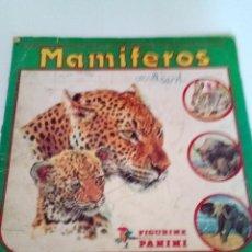 Coleccionismo Álbumes: ALBUM CROMOS MAMIFEROS 228 CROMOS. Lote 170880670