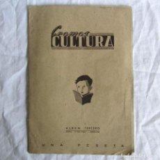 Coleccionismo Álbumes: ALBUM DE CROMOS CULTURA, ALBUM TERCERO CON 57 CROMOS. Lote 170963873