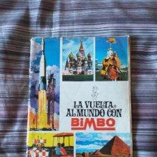 Coleccionismo Álbumes: ALBUM CROMOS LA VUELTA AL MUNDO CON BIMBO 1967, FALTAN 18 CR.. Lote 171356293