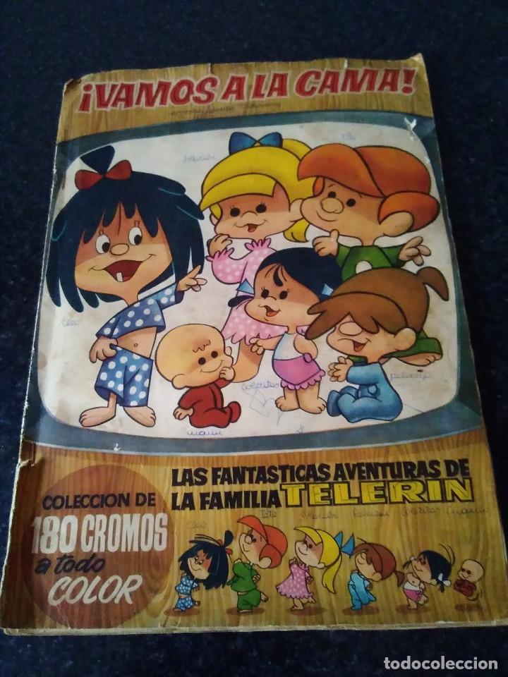 118-ALBUM DE CROMOS VAMOS A LA CAMA, FAMILIA TELERIN, EDITORIAL BRUGUERA, 1965 (Coleccionismo - Cromos y Álbumes - Álbumes Incompletos)