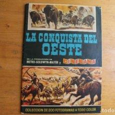 Coleccionismo Álbumes: ÁLBUM LA CONQUISTA DEL OESTE CON 79 CROMOS MUY BIEN ESTADO EDITORIAL BRUGUERA 1963 . Lote 171814252