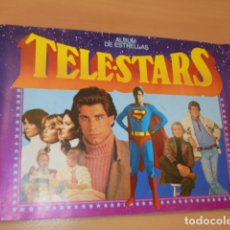 Coleccionismo Álbumes: ALBUM DE CROMOS TELE STARS IN COMPLETO FALTAN 17 CROMOS DE 209 - . Lote 172884834