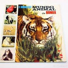 Coleccionismo Álbumes: EL MARAVILLOSO MUNDO ANIMAL DE BONUX - FHER - ALBUM DE CROMOS - SÓLO FALTAN 19 DE 121 CROMOS. Lote 172952457