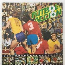 Coleccionismo Álbumes: ÁLBUM FÚTBOL EN ACCIÓN – DANONE 82 – AÑO 1981 – NARANJITO - INCOMPLETO. Lote 173475347
