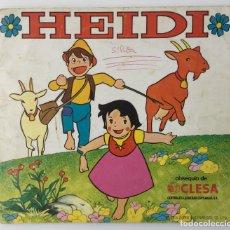 Coleccionismo Álbumes: ÁLBUM INCOMPLETO HEIDI OBSEQUIO DE CLESA – 1975 ED. FHER + CUENTOS PHOSKITOS DE HEIDI – FALTAN 38. Lote 173482777