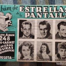 Coleccionismo Álbumes: ALBUM DE CROMOS ESTRELLAS DE LA PANTALLA (COMPLETO - 4 CROMOS) (CISNE - GERPLA 1942). Lote 173601060
