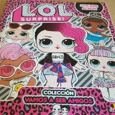 Coleccionismo Álbumes: ÁLBUM VACÍO / LOL SURPRISE / STICKER ALBUM / COLECCIÓN VAMOS A SER AMIGOS / 6 CROMOS / NUEVO.. Lote 174025890