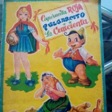 Collectionnisme Albums: CAPERUCITA ROJA, PULGARCITO FALTA EL NUMERO 17, CENICIENTA. Lote 174462522