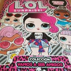 Coleccionismo Álbumes: ÁLBUM VACÍO / LOL SURPRISE / STICKER ALBUM / COLECCIÓN VAMOS A SER AMIGOS / 6 CROMOS / NUEVO.. Lote 174960998