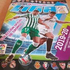 Coleccionismo Álbumes: ÁLBUM VACÍO / LA LIGA SANTANDER / 2019-20 / COLECCIONES ESTE / PANINI / 6 CROMOS / NUEVO.. Lote 175173777